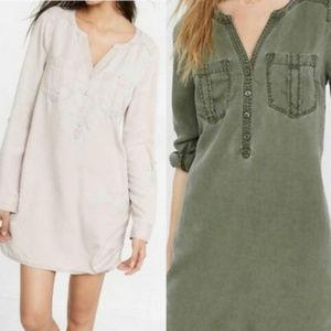 🤪 2 for $45 EUC Express Twill Utility Shirt Dress